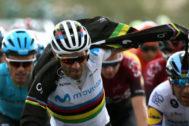 Alejandro Valverde, durante la etapa de este viernes.