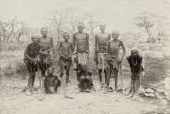 Surviving Herero after the escape through the arid desert of Omaheke in German South-West Africa (modern day <HIT>Namibia</HIT>). circa 1907.