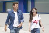 Albert Rivera y Malú a la salida del Hospital HM Puerta del Sur en Madrid en julio