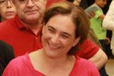 Colau con su marido, Adria Alemany, en una imagen de 2015.