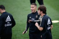 Soccer: La Liga - Real Madrid training day Eden <HIT>Hazard</HIT> of Real Madrid during the training season of Real Madrid at Ciudad Deportiva Real Madrid in Valdebebas, Madrid, Spain, on September 13, 2019. 13/09/2019 ONLY FOR USE IN SPAIN