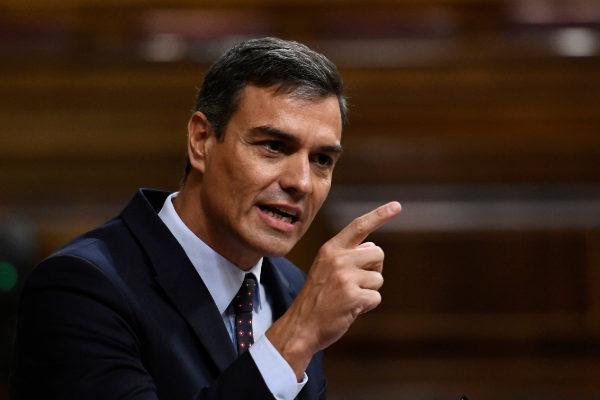 Pedro Sánchez, presidente del Gobierno en funciones, en el Congreso.