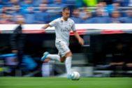 GRAF2236. MADRID.- El delantero belga del Real Madrid Eden <HIT>Hazard</HIT> durante el partido ante el Levante, correspondiente a la cuarta jornada de LaLiga Santander, disputada en el estadio Santiago Bernabéu, en Madrid.