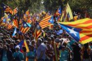Manifestación independentista en la pasada diada.