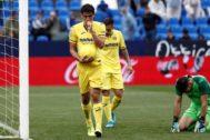 Gerard celebra su segundo gol al Leganés.