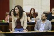 La portavoz de Adelante Andalucía, Inmaculada Nieto (IU), este jueves en el Parlamento.
