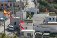 El paso fronterizo de Benzú, al norte de la ciudad, que separa Ceuta de Marruecos.