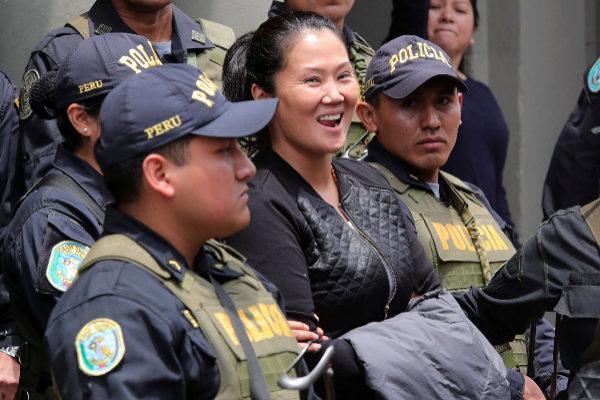 Fotografía de archivo de la líder de la oposición de Perú, Keiko...