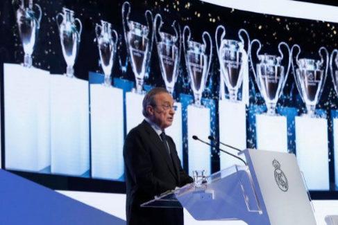 El discurso de Florentino: homenaje a Xana, crítica a la pasada temporada y un nuevo Bernabéu en 2022