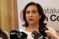 Antonio Moreno 15.09.2019 Barcelona Cataluña. Ada <HIT>Colau</HIT> en el Consell Nacional de Catalaunya En Comú en la sede de Barcelona.
