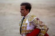 El torero Javier Cortés, en la plaza de toros de Las Ventas.