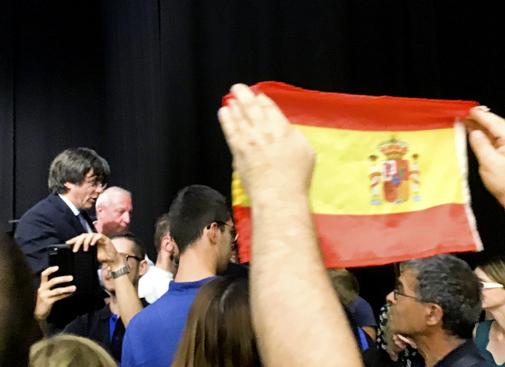 Carles Puigdemont, en un acto público que protagonizó este sábado...