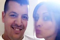 Abdelah El Haj, alias Messi, con su novia.