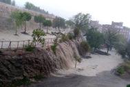 Inundaciones en las calles de Rivas-Vaciamadrid por las tormentas de este domingo.