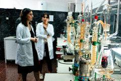 Laboratorio en Tiflis (Georgia) donde se certifica la calidad del vino para exportar.
