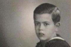 Jordi Pujol, en su primera comunión.