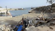 Estado actual de las obras de Autoridad Portuaria de Baleares (APB) en el Club Marítimo del Molinar de Levante.