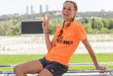 La actriz María Castro está en plena forma y es una gran amante del deporte.