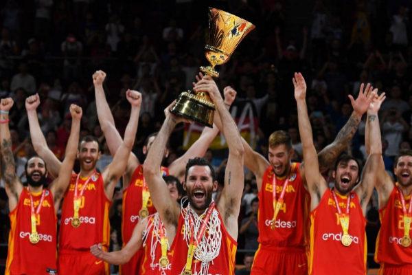 España celebra el título del Mundial de baloncesto 2019