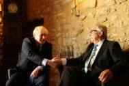 Jean-Claude Juncker y Boris Johnson,  en Luxemburgo.