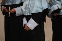 Rectores en el acto de apertura de curso en la Universidad de Alcalá de Henares (Madrid).
