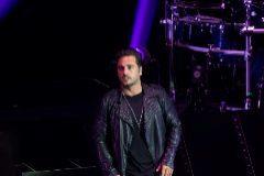 El cantante David Bustamante durante una actuación en Zargoza