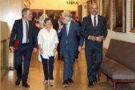Jaume Collboni, Teresa Cunillera, Sánchez-Llibre y Miquel Buch.