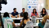El equipo de investigadores formado por M.Ángel Miranda, Sofía Delgado, Claudia Paredes y José Antonio Jurado.