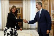 El Rey Felipe recibe en audiencia a la portavoz de Junts per Catalunya, Laura Borràs.