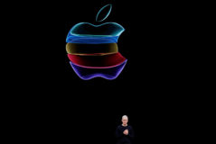 Tim Cook, CEO de Apple, en la última presentación de la compañía en Cupertino (EEUU).