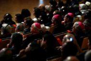 """GRAF3079. MADRID.- Asistentes a la sesión inaugural del Congreso """"<HIT>Paz</HIT> sin <HIT>Fronteras</HIT>. Religiones y Culturas en Diálogo"""" que reunirá en Madrid entre el 15 y el 17 de septiembre a más de 300 líderes religiosos, representantes del <HIT>mundo</HIT> académico, cultural, expertos internacionales y sociedad civil."""