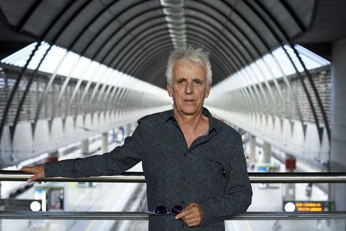 Kiko Veneno, en la estación de tren de Santa Justa de Sevilla