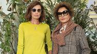 Nieves Álvarez y Nati Abascal durante el 'Falconeri Fashion Show' en Verona.