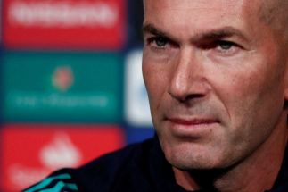 Paris (France).- Real Madrid head coach Zinedine <HIT>Zidane</HIT> holds a press conference at the Parc des Princes stadium in Paris, France, 17 September 2019. Paris Saint Germain will face Real Madrid in a UEFA Champions League match on 18 September. (Liga de Campeones, Francia) EPA/