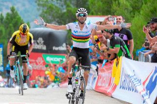 Valverde, en una etapa de la última Vuelta a España.