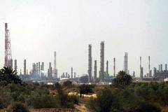 Una vista panorámica de las instalaciones de Aramco.