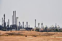 Refinería de la petrolera estatal Aramco en Arabia Saudí.