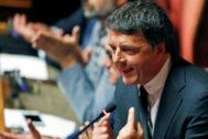 El ex primer ministro italiano Matteo Renzi.