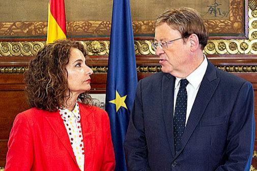 María Jesús Montero y Ximo Puig, este lunes