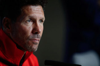 Soccer: Champions League - At Madrid v Juventus Diego Pablo <HIT>Simeone</HIT> of Atletico de Madrid during the press conference before of the Champions League football match played between Atletico de Madrid and Juventus at Wanda Metropolitano Stadium in Madrid, Spain, on September 17, 2019. 17/09/2019 ONLY FOR USE IN SPAIN