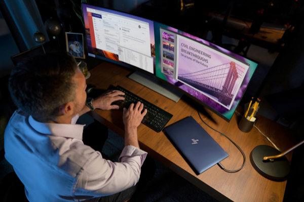Este monitor de HP te permite manejar a la vez tu móvil, tu PC y tu Mac