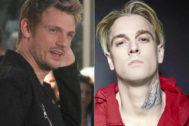 El miembro de Backstreet Boys Nick Carter (d) y su hermano Aaron Carter (i)