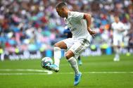 Hazard en el último partido del Real Madrid