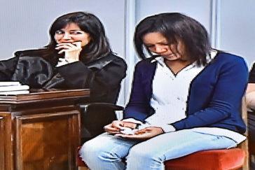 Ana Julia Quezada, ayer en Almería, durante la séptima sesión del juicio.