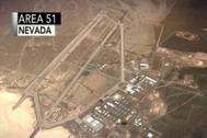 Vista aérea del Área 51.