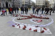 Acto contra la violencia machista en la Puerta del Sol de Madrid.