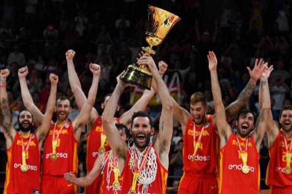 España celebra el título del Mundial de baloncesto 2019.