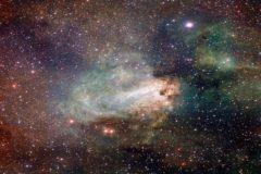 Imágen tomada con el telescopio VST de la constelación de Sagitario.