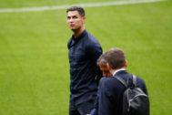 Cristiano, en el Wanda Metropolitano.