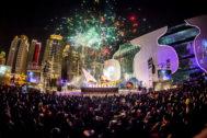 'Veles e vents' con motivo de la celebración del Año Nuevo de 2015 en Taiching (Taiwán).